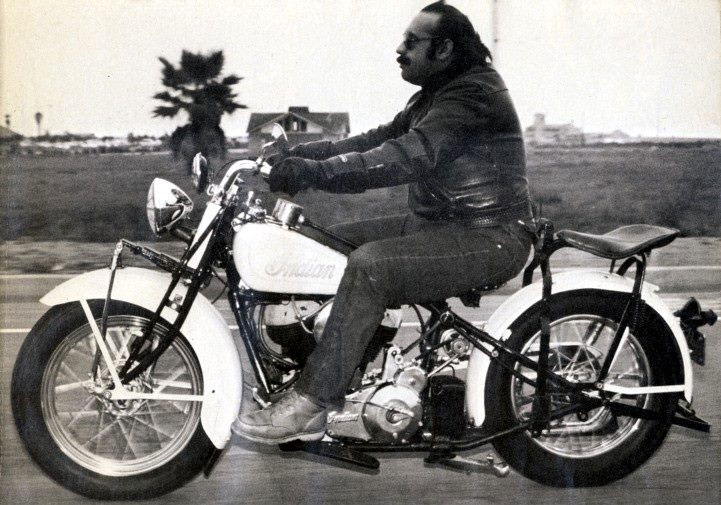 David Hansen on his 1933 Indian Chief