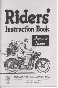 1949-51 Indian Vertical Twin Riders handbook