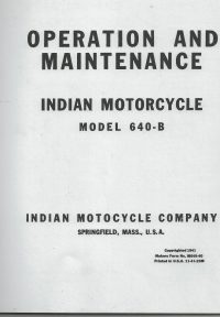 640B Operation & Maintenance Service Manual